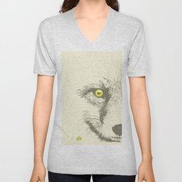 Art print: The Fox face Unisex V-Neck
