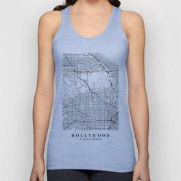 Hollywood California Street Map Minimal Unisex Tank Top