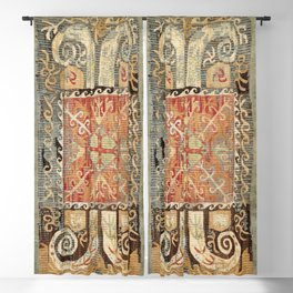Kaitag 18th Century Caucasian Embroidery Print Blackout Curtain