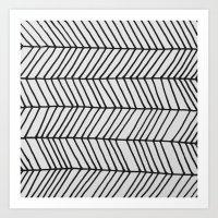 Free Form Zig Zag Art Print