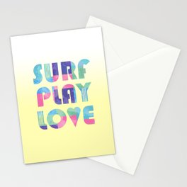 Surf Play Love Stationery Cards