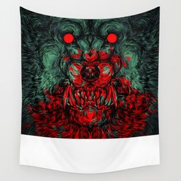 A wolf in the shape of a girl Wall Tapestry