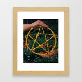 Ace of Pentacles Framed Art Print
