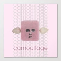 camouflage Canvas Prints featuring Camouflage by fabiotir