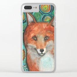 Mandala Fox Clear iPhone Case