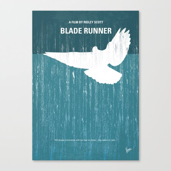 No011 My Blade Runner minimal movie poster Canvas Print