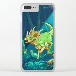 Cretaceous Abduction Clear iPhone Case
