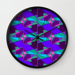 Kaleidoscopic Pattern A Wall Clock