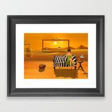 Exotic living in the desert Framed Art Print