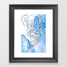 Aqua's Breath Framed Art Print