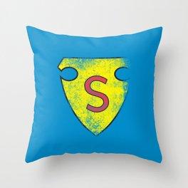 ORIGINAL 'S' SHEILD (distressed look) Throw Pillow
