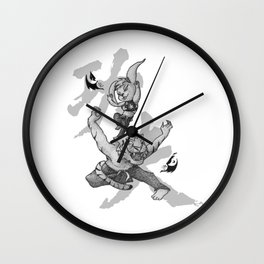 KungFu Zodiac - Tiger and Rabbit Wall Clock