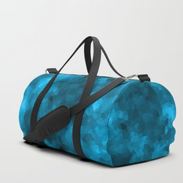 Blue abstract polygonal background Duffle Bag
