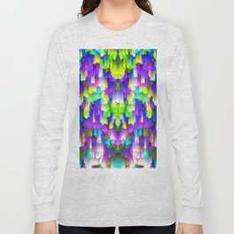 Colorful digital art splashing G392 Long Sleeve T-shirt