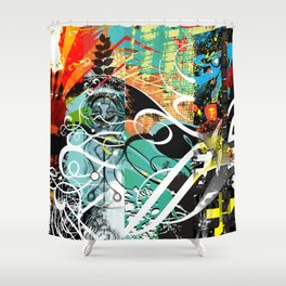 Exquisite Corpse: Round 4 Shower Curtain