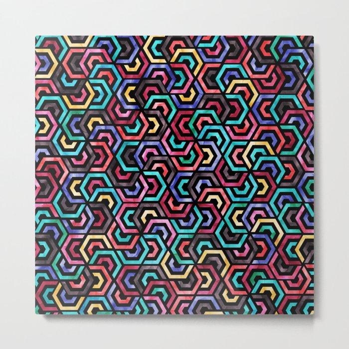 Seamless Colorful Geometric Pattern XXV Metal Print