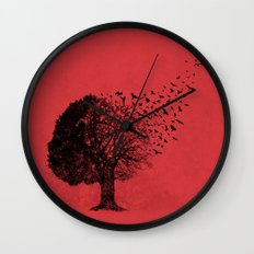 Autumn Birds Wall Clock