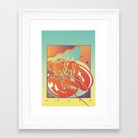 lobster Framed Art Prints featuring Lobster by David Chestnutt