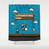 supernatural Shower Curtains featuring Supernatural Bros. by Byway