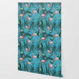 Tropical Flamingo Pattern #8 #tropical #decor #art #society6 Wallpaper