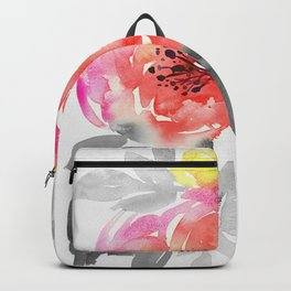 passionate hand painted watercolor floral, expressive bouquet Backpack