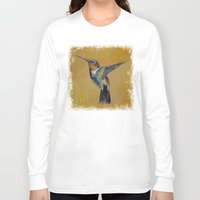 hummingbird Long Sleeve T-shirts featuring Hummingbird by Michael Creese