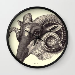 Ram's Head Wall Clock