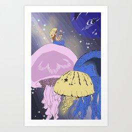 space jellys Art Print