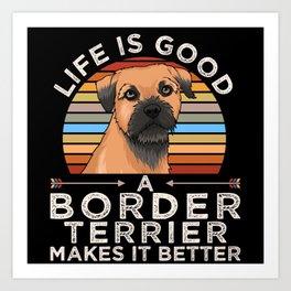 Border Terrier Funny Gift Art Print