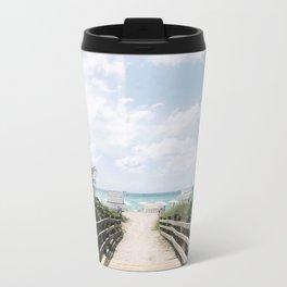 GREETINGS FROM MIAMI BEACH Metal Travel Mug