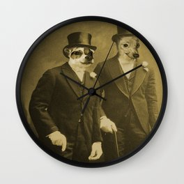 Top Coat Top Hat -Sharp Dressed Dogs Wall Clock