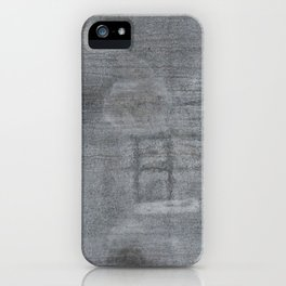 Urban Texture Photography - Concrete Hangar Floor iPhone Case