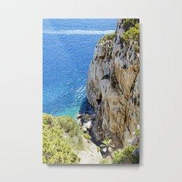 Grotta Pizzi e Ricami, Sardinia Metal Print