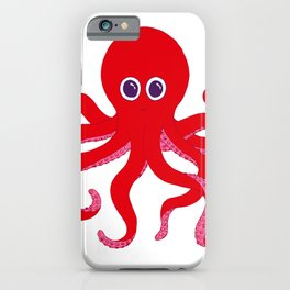 Octopus (Red) iPhone Case