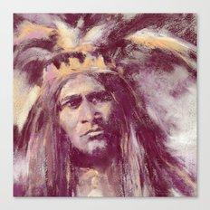 American Indian Portrait Canvas Print