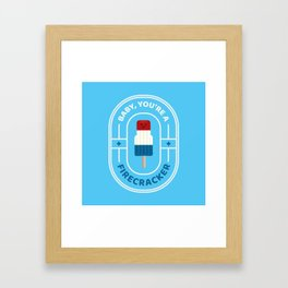 Punny Pops: Firecracker Framed Art Print