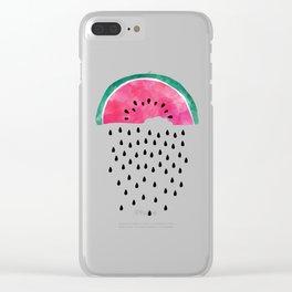 Watermelon Rain Clear iPhone Case