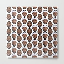 Kyrie and LeBron pattern Metal Print