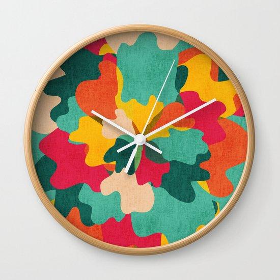 Aloha Camo Wall Clock