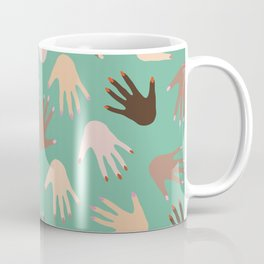 hands on hands Coffee Mug
