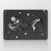 lantern iPad Cases featuring Lantern Fish by GoAti