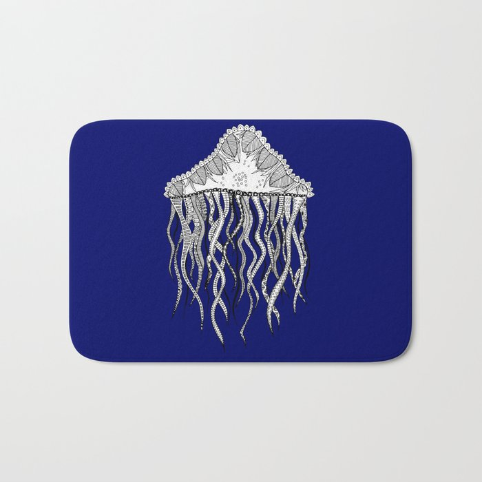Blue Jellyfish Bath Mat