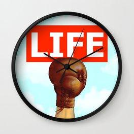 kick life back Wall Clock