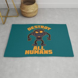 Destroy All Humans Angry Robot Rug