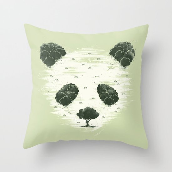 Deforestation Throw Pillow