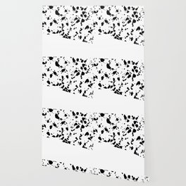 Terrazzo Texture Black and White #8 Wallpaper