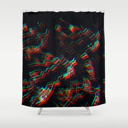 TRIPPY COLORFUL WATER RIPPLES Shower Curtain