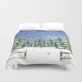 A Winter's Night Duvet Cover