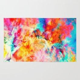 Colorful Abstract Nebula Rug