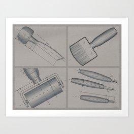 Printmaking Tools Art Print
